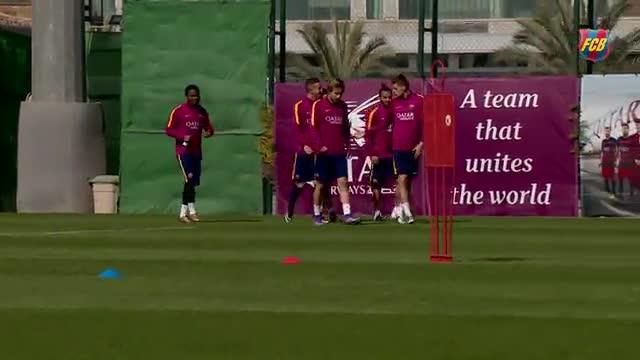 El Barça entrenó en la Ciutat Esportiva