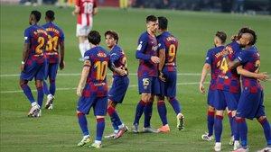 El Barça salvó el partido ante el Athletic