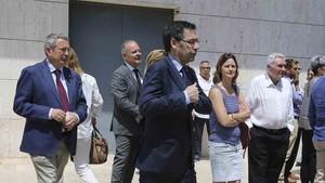 Bartomeu representó al Barcelona en el sepelio de Zaldúa