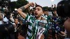 Bruno Fernandes, eufórico tras conquistar un título con el Sporting