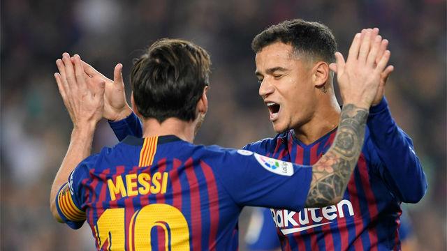 Coutinho abrió el marcador ante el Sevilla con un tempranero gol