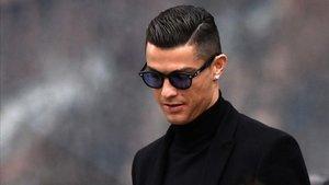 Cristiano Ronaldo, a la entrada del Juzgado
