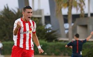 Dani Romera, en un partido con el Almería