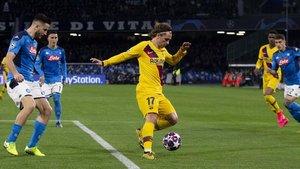 La eliminatoria entre el Barça y el Nápoles queda sin resolución por el momento