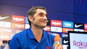 Ernesto Valverde, en la rueda de prensa previa al partido ante el Betis