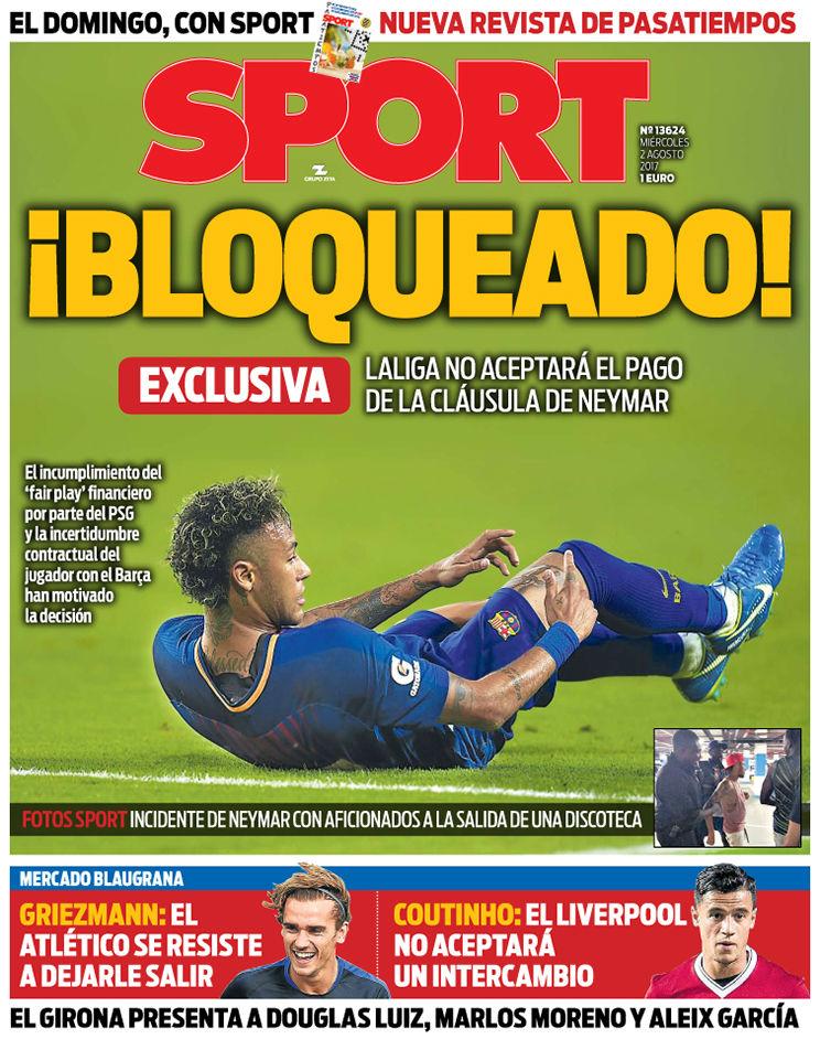 Periodico F.C.Barcelona. Esta-portada-sport-del-agosto-1501627802880