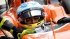 Fernando, dentro del habitáculo de su McLaren