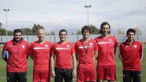 Francisco Rodríguez y su nuevo cuerpo técnico en el Huesca