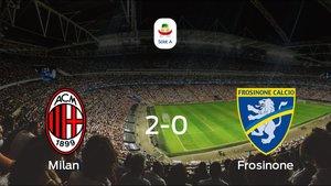 El Frosinone cae derrotado frente al Milan en el San Siro (2-0)