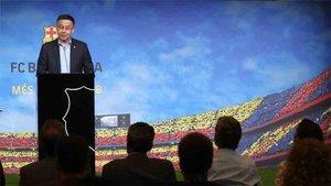 Josep Maria Bartomeu, presidente del FC Barcelona, ha confirmado este viernes la exclusiva de SPORT sobre Mirotic
