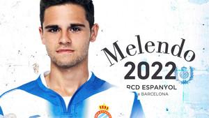 El joven centrocampista Melendo amplió contrato hasta 2022