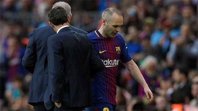 LALIGA | FC Barcelona - Atlético de Madrid (1-0): La lesión de Andrés Iniesta
