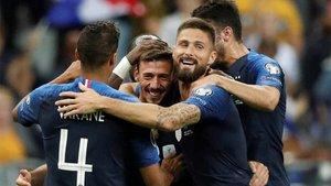 Lenglet ha celebrado su primer gol con Francia