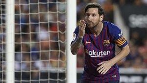 Leo Messi hace 15 años que jugó por primera vez con el primer equipo