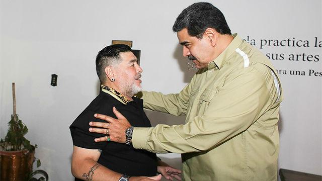 Maradona llega a Venezuela para dar apoyo político a Maduro