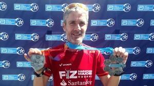 Martín Fiz en el maratón de Londres