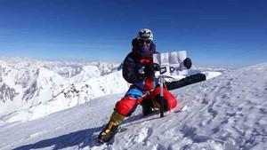 Mingote, la pasada semana en la cima del Broad Peak