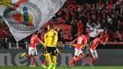 Mitroglou celebra así el único gol del parttido