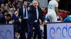 Pablo Laso, entrenador del Real Madrid, durante el partido de este domingo contra Estudiantes