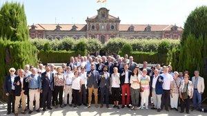 Representantes de todos los organismos implicados en la nueva ley del deporte catalán