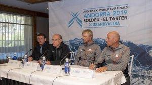 Rueda de prensa de los responsables técnicos de la Federación Internacional de Esquí