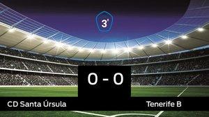 El Santa Úrsula y el Tenerife B sólo sumaron un punto (0-0)