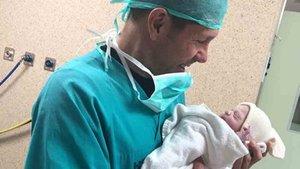 Simeone, con su hija Valentina