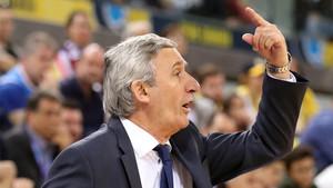Svetislav Pesic, entrenador del Barça Lassa de basket