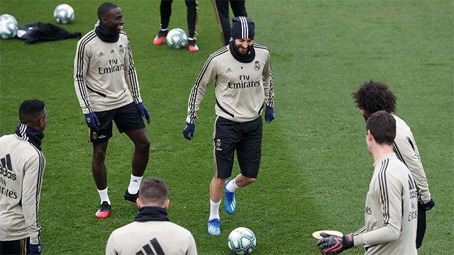 Último entrenamiento del Real Madrid antes del encuentro en Valladolid