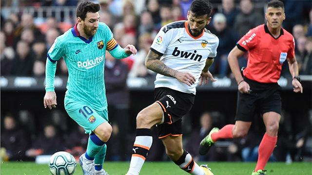 Vea las notas de los jugadores del Barça en la primera mitad ante el Valencia