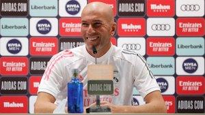 Zidane comparece este martes en la sala de prensa