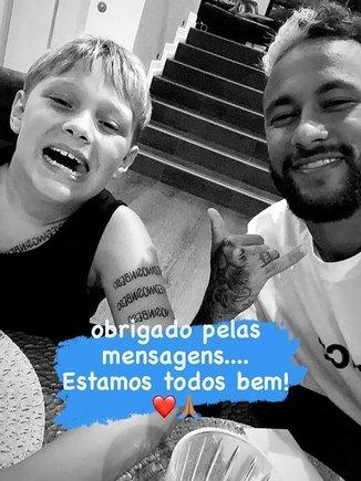 El mensaje de Davi Luca y Neymar en Instagram