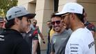 Alonso, con Hamilton y Sergio Pérez, en Bahrein
