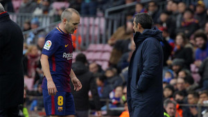 Andrés Iniesta pidió el cambio ante el Celta