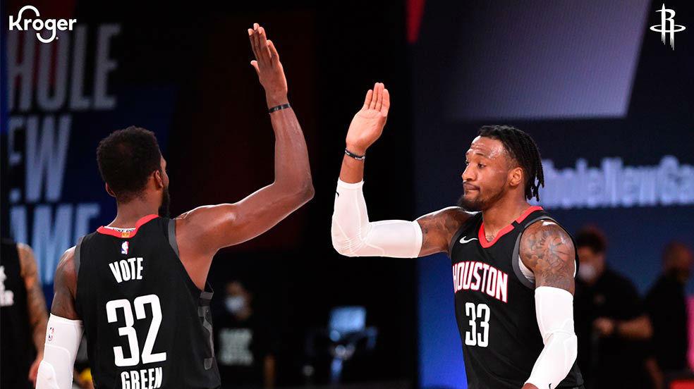 Así fue la victoria de los Rockets ante Los Angeles Lakers