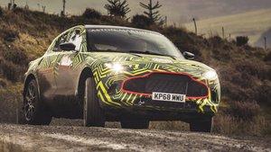 Aston Martin DBX en fase de pruebas.