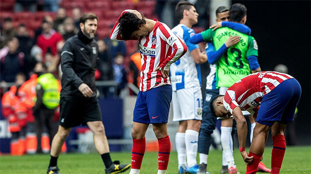 El Atlético de Madrid no levanta cabeza y empata ante el Leganés