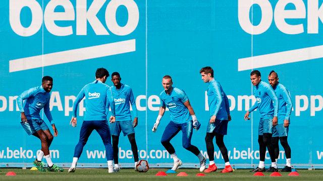 El Barça se entrena con Messi, pero sin Rakitic
