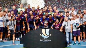 El Barcelona es el rey de la Supercopa con cinco títulos
