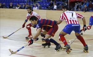El CP Cerceda en su última visita al Palau Blaugrana en febrero pasado