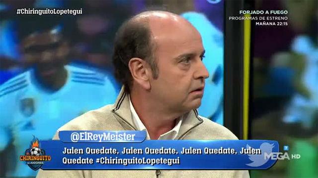 La dura rajada de Juanma Rodríguez anoche en El Chiringuito contra el Real Madrid