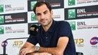 Federer, durante su comparaecencia