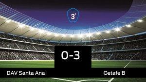 El Getafe B venció en el estadio del Santa Ana