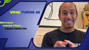 Hamilton, en el vídeo de felicitación para Rossi
