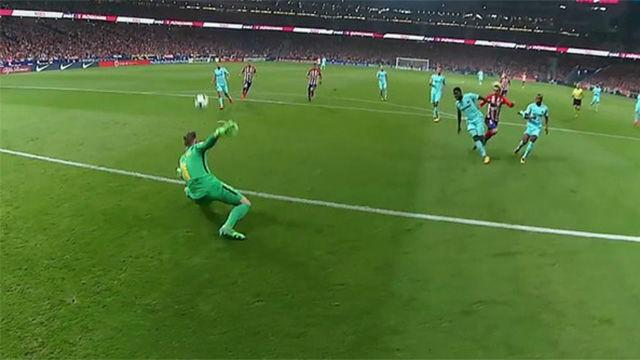 LALIGA | Atlético Madrid - FC Barcelona (1-1): Doble parada magistral de Ter Stegen