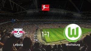 El RB Leipzig y el Wolfsburg consiguen un punto después de empatar a uno