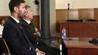 Leo y Jorge Messi, durante su comparecencia en la Audiencia de Barcelona