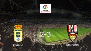 El Logroñés suma tres puntos a su casillero ante el Real Oviedo (2-3)