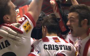 Los jugadores del Vic celebrando el pase a la final