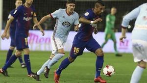 Paulinho fue de los pocos titulares del Barça en Balaídos